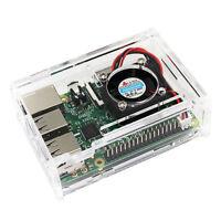 Transparente klare Gehäuse Gehäuse Box für Raspberry Pi 2 Modell /B+/ 3 Kits^