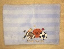 Circo Boys Team Player Baby Blue Fleece Blanket Sports Striped Soccer Basketball