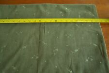 "By-the-Half-Yard, 43"", Olive-Green Embroidered Eyelet on 14-Wale Corduroy M3840"