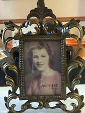 Larson Juhl Brass Ornate Scrolled Large Standing Picture Frame