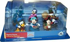 Disney Store Mickey Christmas Carol 6 Figure Play Set Mickey Mouse Scrooge Cake