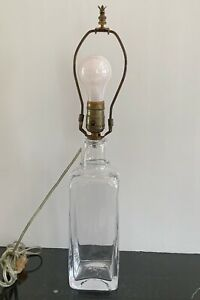 Vintage Hand Blown Simon Pearce Glass Lamp
