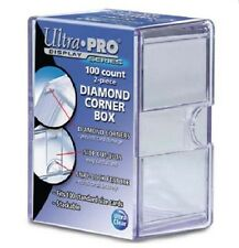 Ultra Pro 100 Card 2-Piece Diamond Corner Storage Box Premium Slide Snap Lock