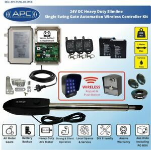 Single Swing Electric Gate Opener Automatic Motor Remote Control Complete Kit