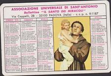 CALENDRIER 1973 IMAGE PIEUSE-SANT'ANTONIO-ASSOCIAZIONE UNIVERSALE-PADOVA ITALIE