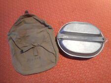 U.S.ARMY: WWII  MESS TIN &   CANVAS HAVERSACK MESS KIT POUCH MILITARY