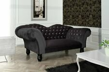 Cupido 2-Sitzer Sofa 2er Steppungen Couch Chesterfield Design 1078