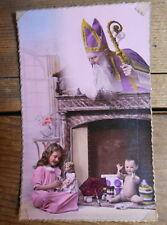 1900's Real Photo Postcard - Father Christmas - France