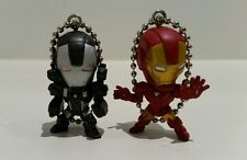 Marvel Set of 2 Ironman & War Machine Keyring/Keychain/Charm (New Without Tags)