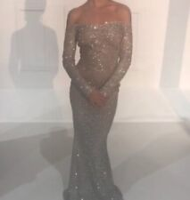 women's Silver Sparkly Prom Dress