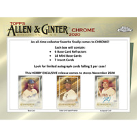 2020 ALLEN AND GINTER CHROME BASEBALL FACTORY SEALED HOBBY BOX FREE SHIPPING