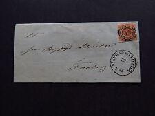 Cover Kuvert Denmark Danmark 3-Rings Postmark 47 Nykjobing Falster 1855