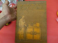 EXTREMELY RARE Early Ford V8 1930's dealer labratory test set instruction book