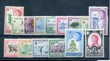 Cayman Islands 1962 defin set fine MNH