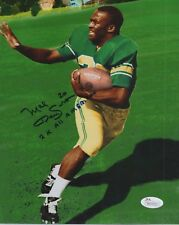 Mel Renfro University of Oregon  Dallas Cowboys Autographed 8x10 Photo JSA COA