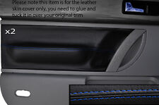 BLUE STITCH 2X FRONT DOOR CARD TRIM SKIN COVERS FITS VW BEETLE 1998-2011