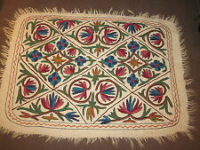 AREA RUG DARJEELING INDIA HAND MADE WOOL 1998 DECOR 4 x 3 MULTI COLORED #5