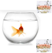 12 Clear Glass Fish Bowl Wedding Event Home Decoration  Centrepiece Vases 15cm
