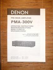 Bedienungsanleitung/Operating Instructions für Denon PMA-300V  ,ORIGINAL