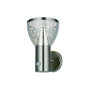 ALBA Solar LED Wall Light - Motion Sensor PIR - Security Lights - Steel - IP44