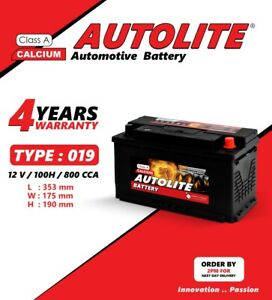 CAR BATTERY MERCEDES IVECO JEEP LAND ROVER TYPE 019 017 100Ah 800CCA
