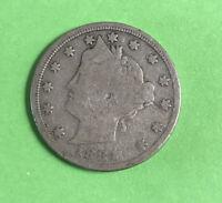 1884 5c Liberty Head V Nickel Good Better Date
