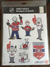 NHL Montreal Canadiens Family Decal Sheet - Autocollant pour Voiture Famille