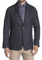 Report Collection Mens Sport Coat Blue/Gray Size Medium M Pin Dot Knit $189 096