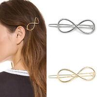 Women Hair Clip Positive Infinity Gold Barrette Hairpin Charm Headband Px