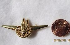 Jr Air Stewardess Wings Fly American Airplane Lapel Pin Pinback Uniform Costume