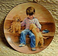 Boy & Golden Retreiver Pups #'d Hamilton Plate 1985 - Abigail Wiilliams