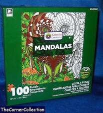 MANDALAS OWL - 100 PIECE PUZZLE NIB - ASSEMBLE & THEN COLOR