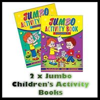 2 x JUMBO CHILDRENS KIDS PUZZLE COLOURING ACTIVITY FUN BOOKS DOT TO DOT UK 3&4