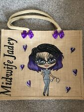 PERSONALISED LARGE HAND PAINTED JUTE BAG GIFT 40tH  21ST 30TH