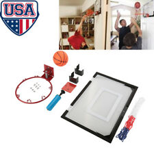Indoor Mini Play Basketball Hoop Backboard Home Office Room Door w/ Ball & Pump