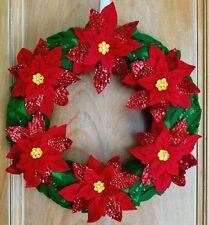 Handmade Poinsettia Wreath