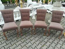4x Lehn Chair Chairs Chesterfield Stuhlset Pads Dining Room Set Storage Items