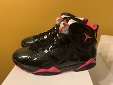 WMNS Air Jordan 7 Retro Black Patent Leather (Mens 10.5)Women Sz 12 313358-006