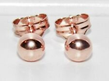 SOLID 9CT ROSE GOLD 4mm BALL STUD EARRINGS