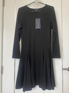 MARKS & SPENCER M&S COLLECTION PETITE BLACK PONTE DRESS SIZE 10 BNWTS