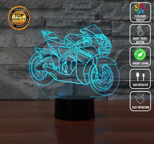 MOTORCYCLE SPEED HONDA KAWASAKI 3D Acrylic LED 7 Colour Night Light Touch Lamp