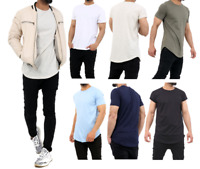 Mens Plain Short Sleeve T-Shirt Men Top Slim Fit Round Hem Crew Neck Casual Tops
