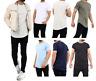 Men s Plain Short Sleeve T-Shirt  Top Slim Fit Round Hem Crew Neck Casual Tops