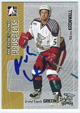 Niklas KRONWALL Signed 2005/06 Heroes and Prospects Card