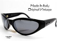 OCCHIALI DA SOLE UOMO sunglasses SPORTIVI AVVOLGENTE nero specchio MADE IN ITALY