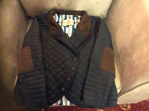 jack murphy navy blue quilted jacket size 16