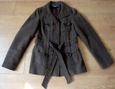 next Ladies 100% Cotton Brown Trench Coat Jacket Size 10