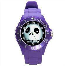 NEW* HOT  JACK SKELLINGTON Purple Round Sport Wrist Watch Gift