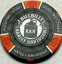 Harley Poker Chip   HILLBILLY HD    GATLINBURG, TN     BLACK