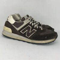 New Balance Mens 574 Brown Suede Running Shoes Lace Up Low Top Size 8.5 D